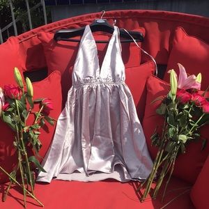 selfie leslie Dresses - Silver Mini Dress NWT Selfie Leslie Size Small